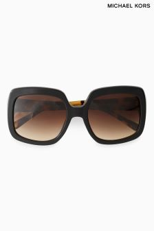 Michael Kors Tortoiseshell Harbour Mist Oversized Square Sunglasses