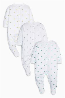 Delicate Sleepsuits Three Pack (0-12mths)