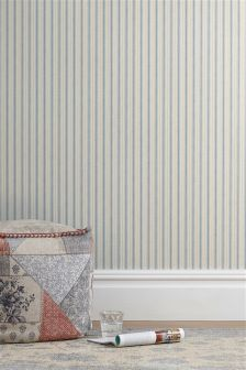 Linen Look Stripe Wallpaper