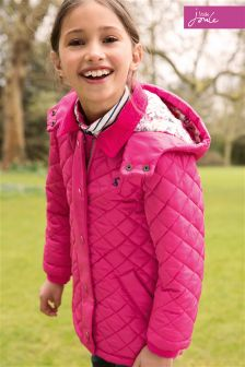 Little Joule Fuchsia Marcotte Quilted Jacket