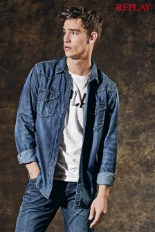 Replay® Denim Western Shirt