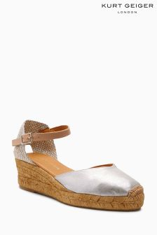 Kurt Geiger London Metallic Minty Espadrille Wedge