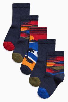 Scenic Socks Five Pack (Older Boys)