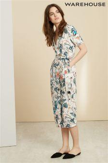 Cream Warehouse Bird Print Wrap Dress