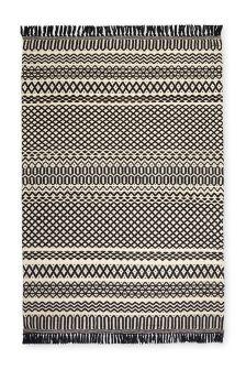 Monochrome Textured Rug