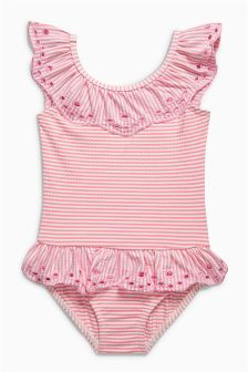 Stripe Frill Swimsuit (3mths-6yrs)