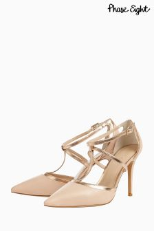 Phase Eight Blush Nina Leather Court Shoe