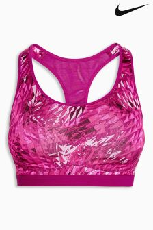 Womens Nike Pink Pro Fierce Filter Sports Bra