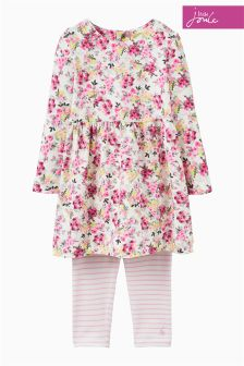 Joules Baby Cream Ditsy Dress