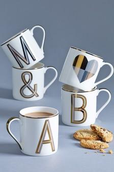 Gold Initial Mug