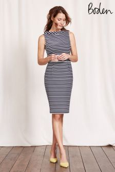 Boden Navy Stripe Martha Dress