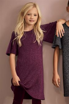 Sparkle Angel Sleeve Dress (3-16yrs)