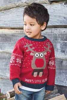 Light-Up Christmas Reindeer Jumper (3mths-6yrs)