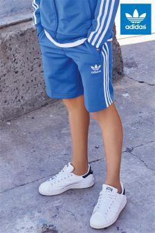adidas Originals Blue 3 Stripe Jersey Short