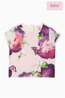 Baker by Ted Baker Blue Printed Top