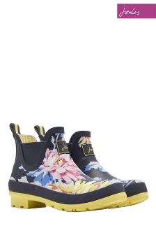 Joules Navy Whitstable Floral Short Welly