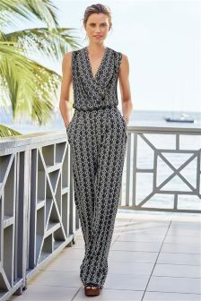 Print Wide Leg Jumpsuit