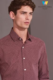 Richard James Spot Print Formal Shirt