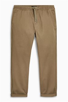 Tapered Fit Drawstring Chinos