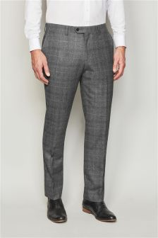 Signature Prince Of Wales Check Slim Fit Suit: Trousers