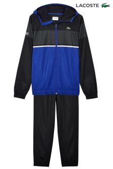 Lacoste® Sport Black/Blue Woven Tracksuit