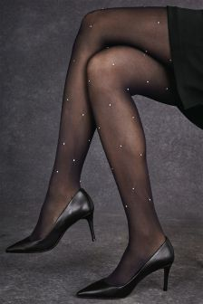 Diamanté Tights One Pack