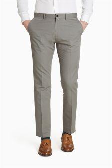 Cotton Linen Mix Slim Fit Trousers