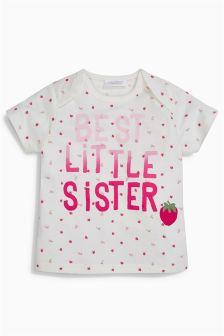 Strawberry Sister T-Shirt (0mths-2yrs)