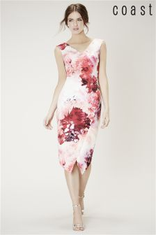 Coast Pink Adra Print Edris Dress