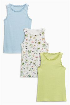 Rib Vests Three Pack (3-16yrs)