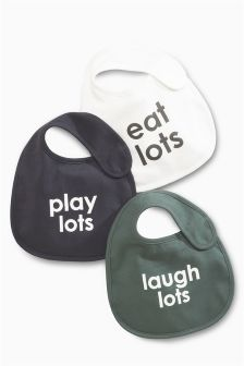 Slogan Bibs Three Pack
