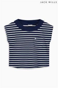 Jack Wills White/Navy Crowthorne T-Shirt