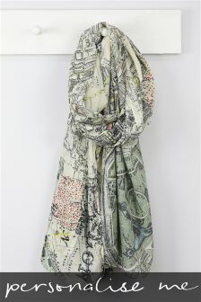 London Map Personalised Scarf By Lisa Angel