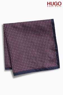 Hugo Tailoring Burgundy Pocket Square