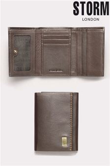 Brown Storm Lonsdale Leather Trifold Wallet