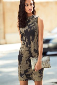 Metallic Printed Dress