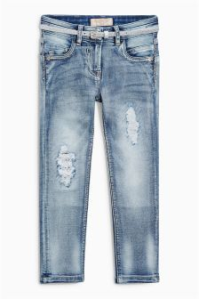 Distressed Belted Jeans (3-16yrs)