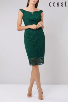 Coast Green Zelda Lace Shift Dress