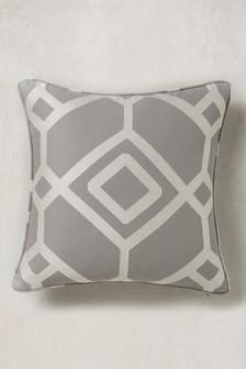 Lattice Geometric Jacquard Cushion