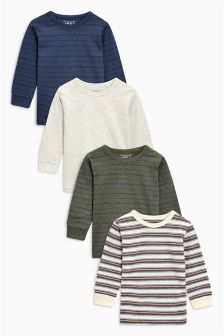 Long Sleeve Tops Four Pack (3mths-6yrs)