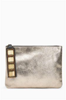 Leather Clutch Bag