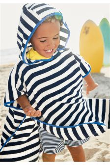 Striped Poncho (9mths-10yrs)