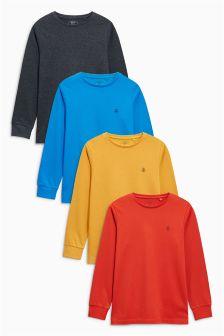 Long Sleeve T-Shirt Four Pack (3-16yrs)