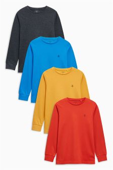 Long Sleeve T-Shirt Four Pack (3-16yrs)