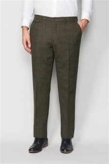 Tailored Fit Check Trousers