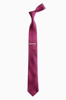 Diamond Tie And Tie Clip
