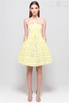The 8th Sign Yellow Lace Bloomberg Dress