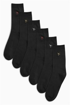 Motif Ankle Socks Six Pack