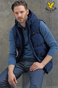 Lyle & Scott Padded Navy Gilet