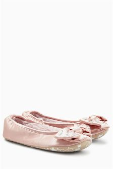Bow Ballerina Slippers